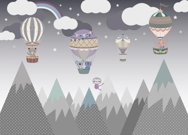 Воздушные шары в горах