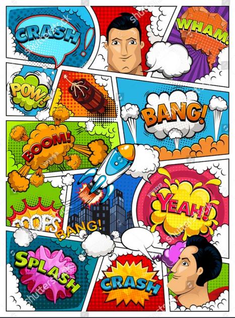 Комикс с суперменом