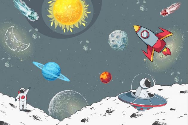 Яркая солнечная система