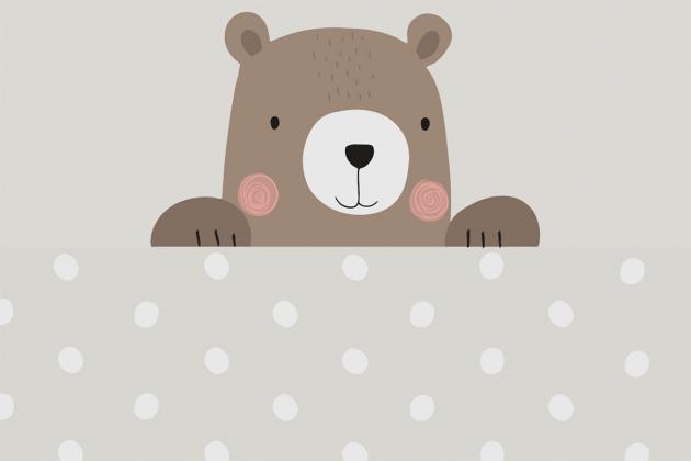 Медведь с горохами