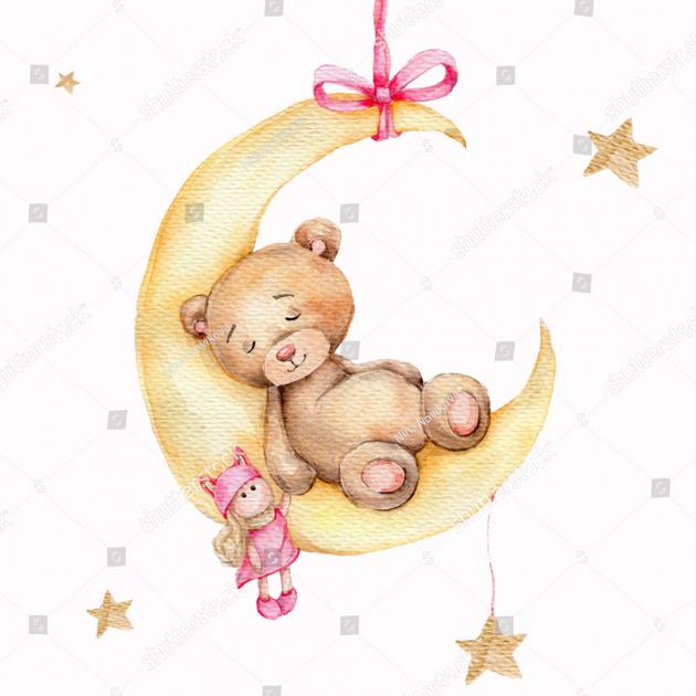 Спящий медвежонок