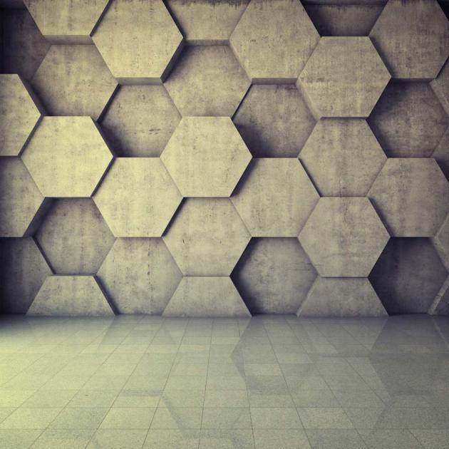 Стена из шестигранников