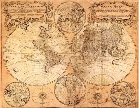 Карта Мира 360х260 Сатин