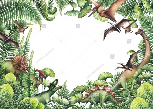 Динозавры в зелени