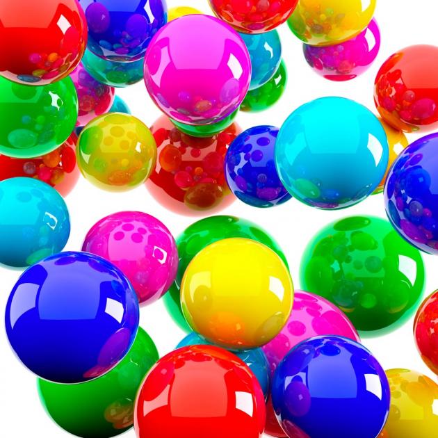 Цветные 3д шары