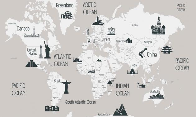 Карта с достопримечательностями