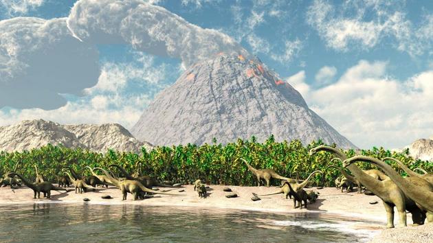 Динозавры на берегу