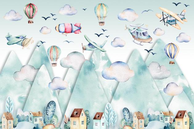 Детские горы с самолетами