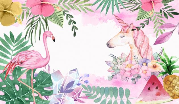 Единорог с фламинго