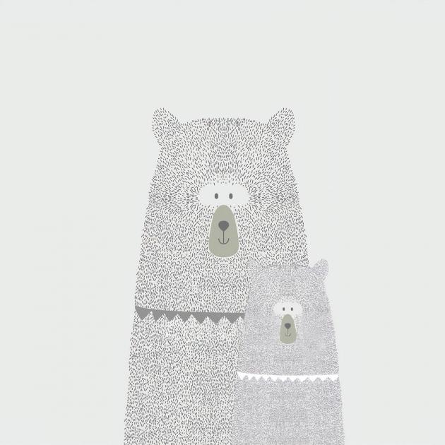 Мама медведица и медвежонок