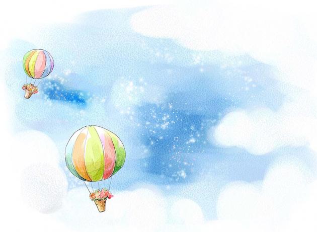 Детские воздушные шары в небе