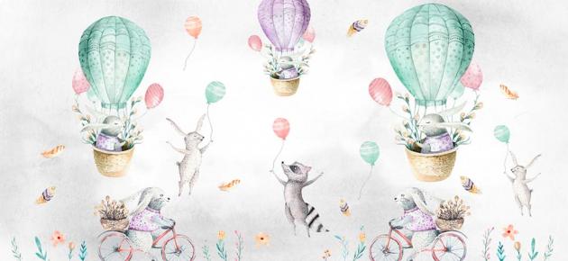 Зайци на воздушных шарах