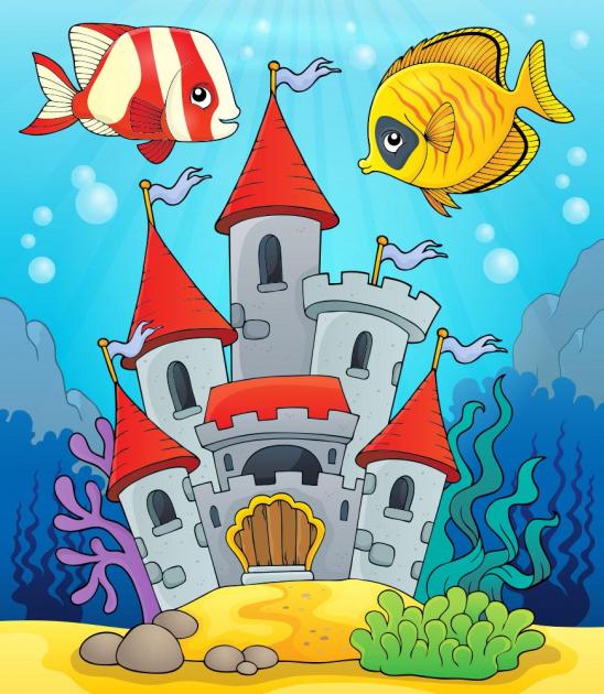 Замок с рыбками