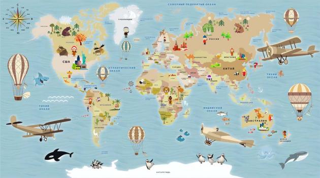 Детская карта с элементами