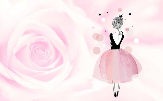 Девочка с розой