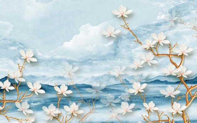 3Д компоновка с цветами