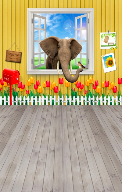 Слоник в окне