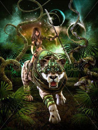 Девушка и саблезубый тигр