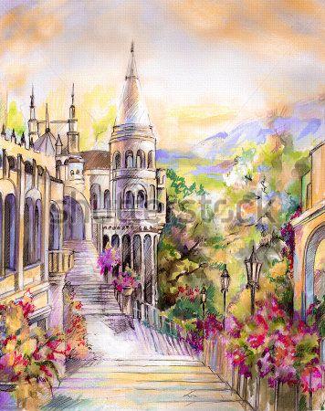 Нарисованный город