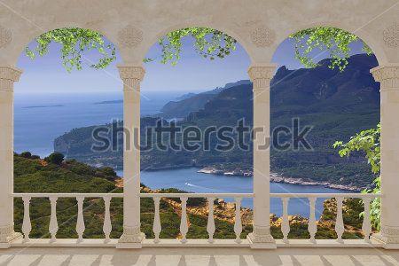 Арка с видом на горы