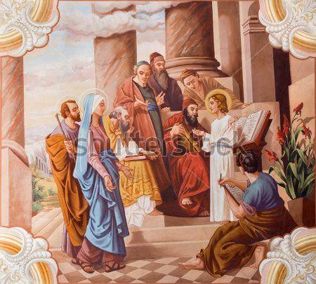 Иисус учит в храме