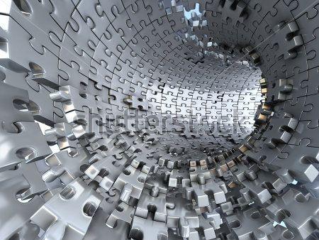 Туннель из пазлов