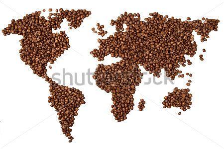 Карта из кофе