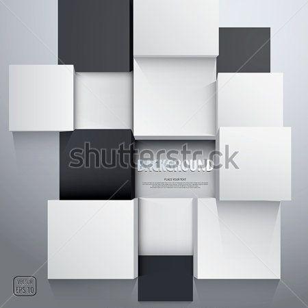 Черно белые кубы