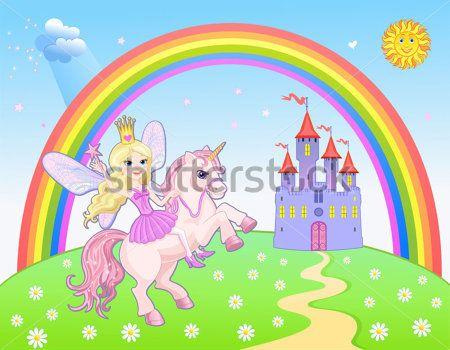Замок и радужная фея