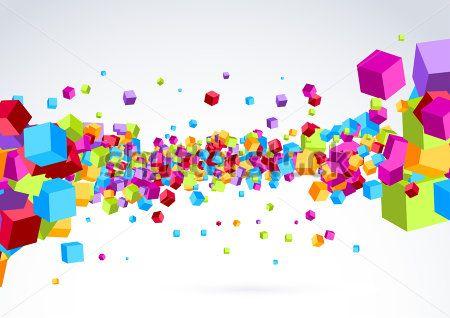 Разноцветные кубы